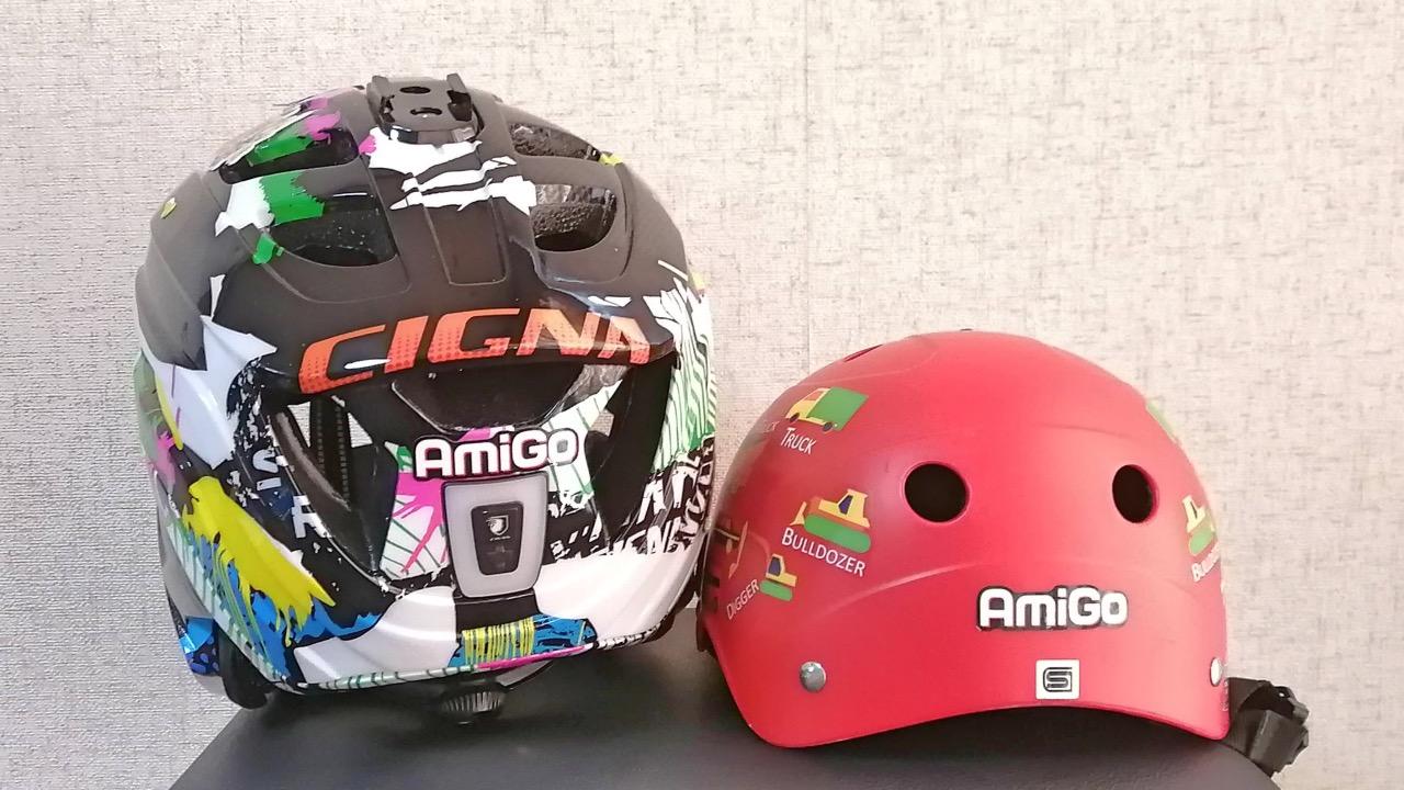 ブリヂストンのヘルメットとシグナのヘルメット